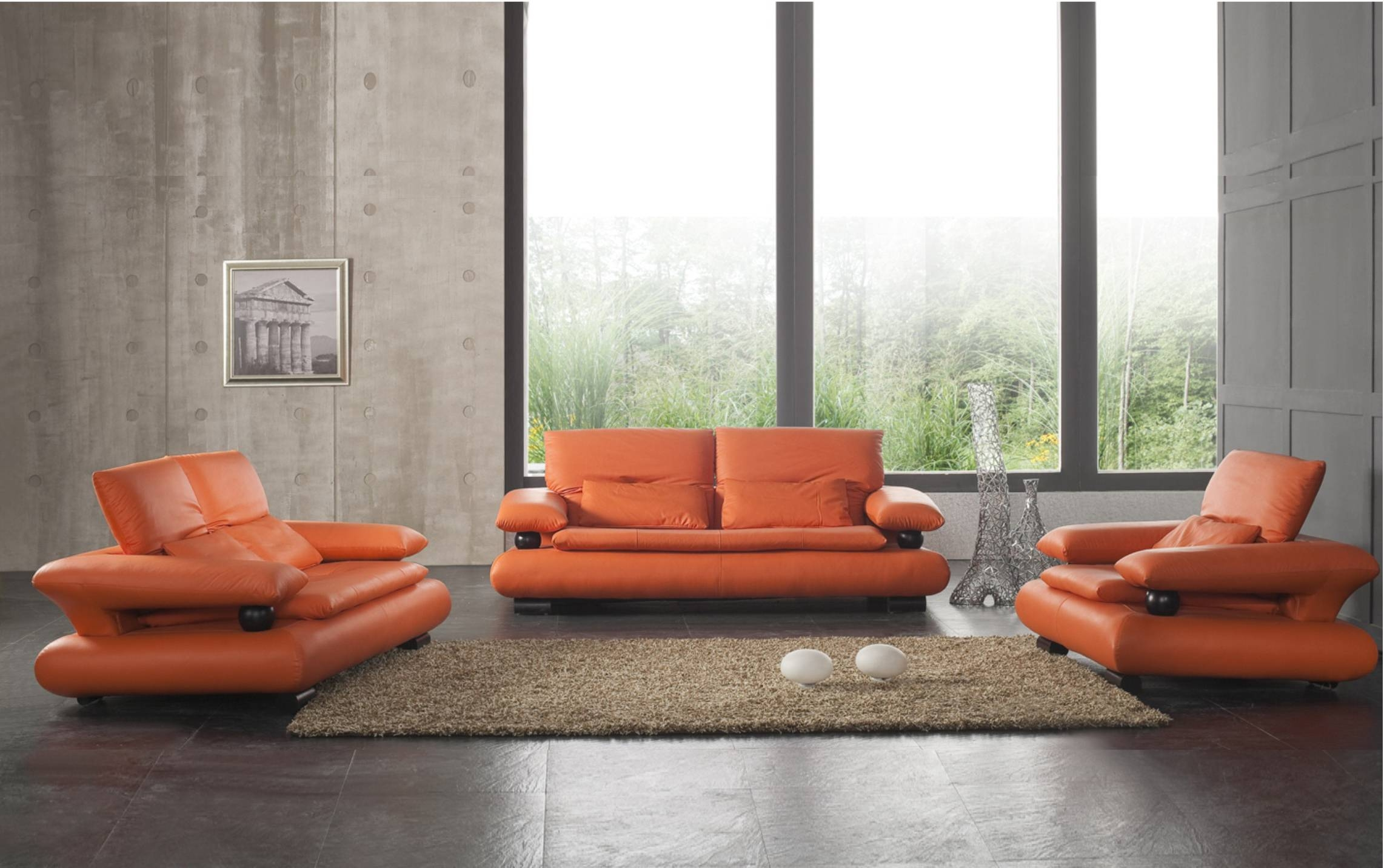 Orange Living Room Chair | Home Design Ideas For Orange Sofa Chairs (View 9 of 15)