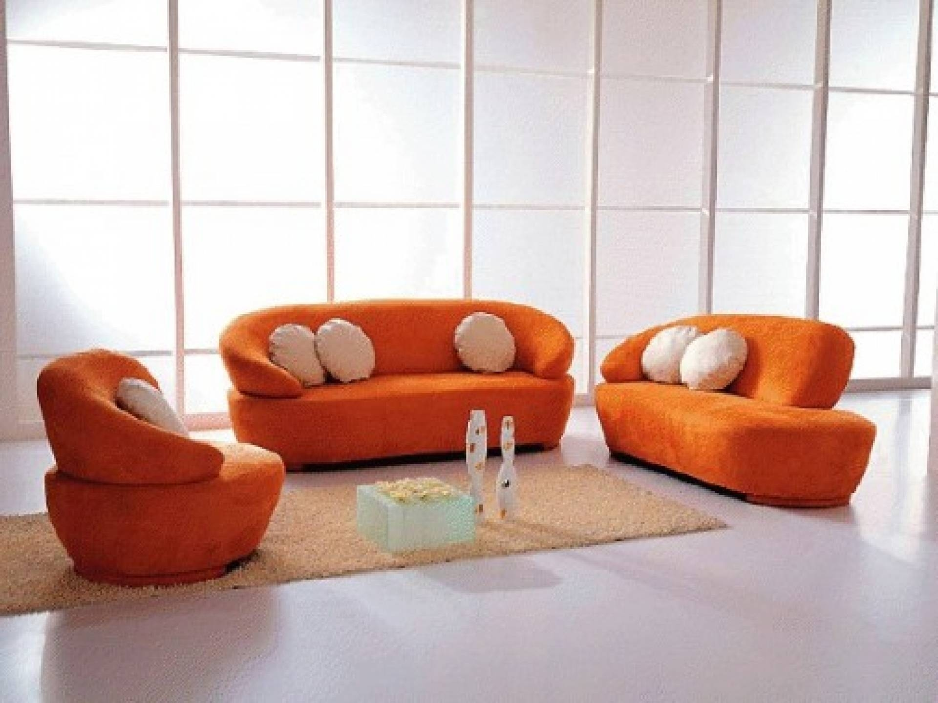Featured Photo of Orange Sofa Chairs