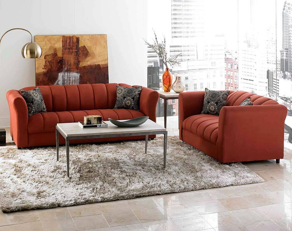 Orange Living Room Set | Home Design Ideas pertaining to Orange Sofa Chairs (Image 11 of 15)