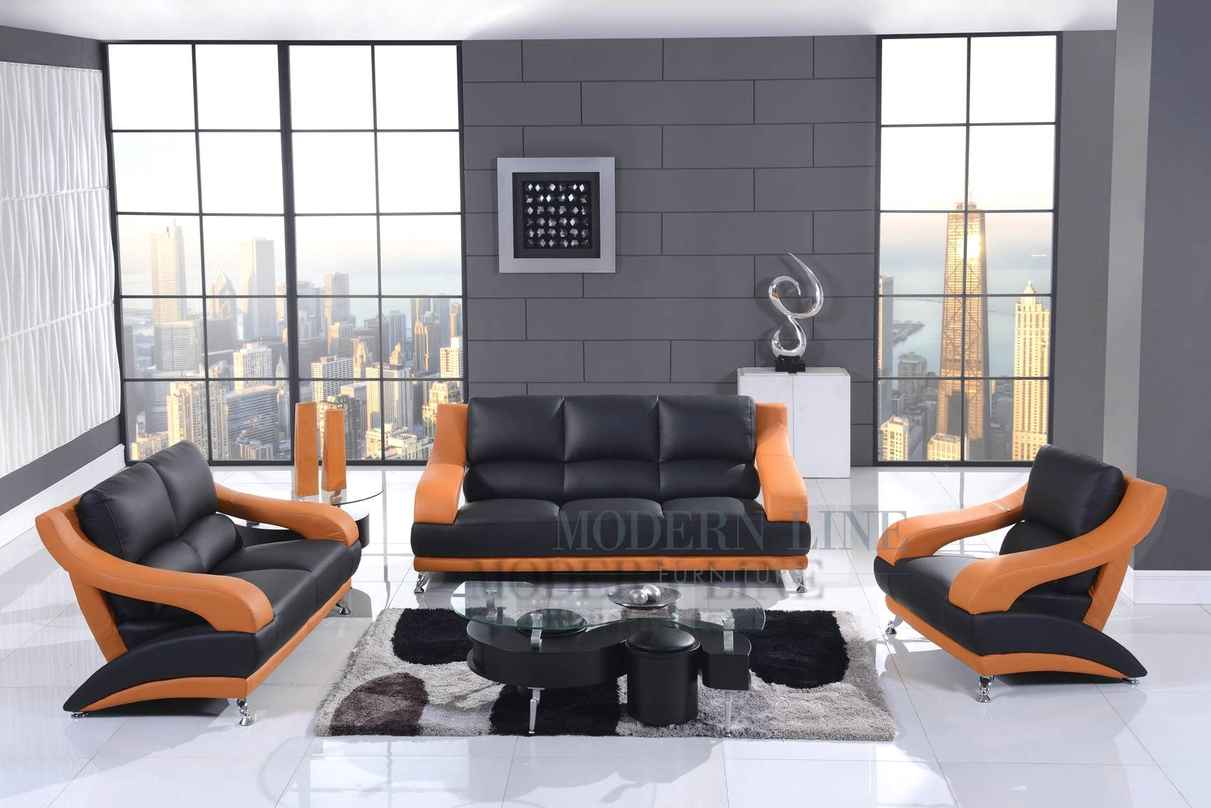 Orange Living Room Set | Home Design Ideas regarding Orange Sofa Chairs (Image 12 of 15)
