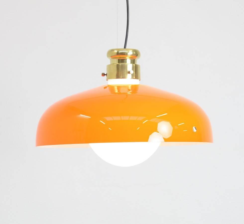 Orange Murano Glass Pendant Lampalessandro Pianon For Vistosi for Murano Glass Pendant Lights (Image 9 of 15)
