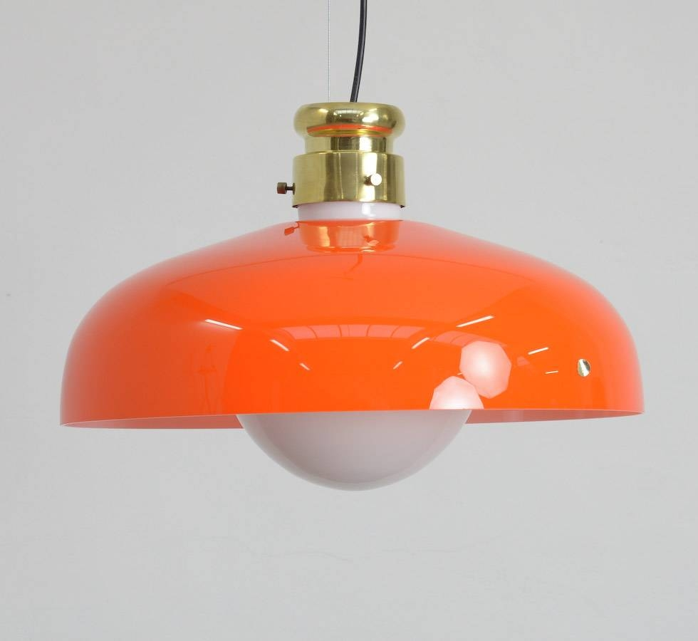 Orange Murano Glass Pendant Lampalessandro Pianon For Vistosi with Orange Glass Pendant Lights (Image 11 of 15)