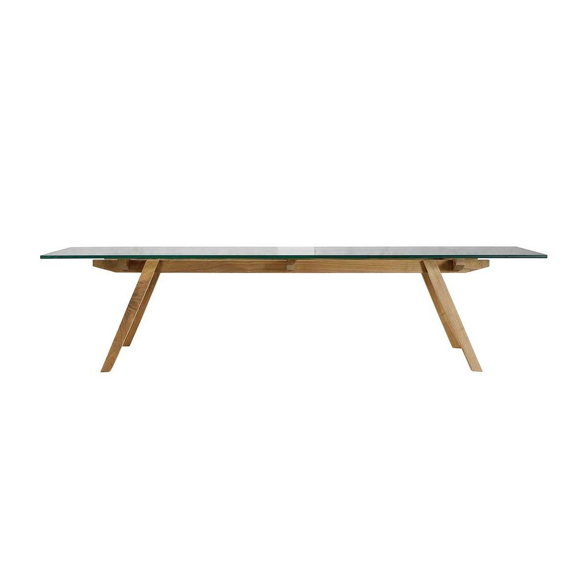 Organic Modernism - Alejandro Sticotti Glass Coffee Table (Oak regarding Glass Oak Coffee Tables (Image 15 of 15)