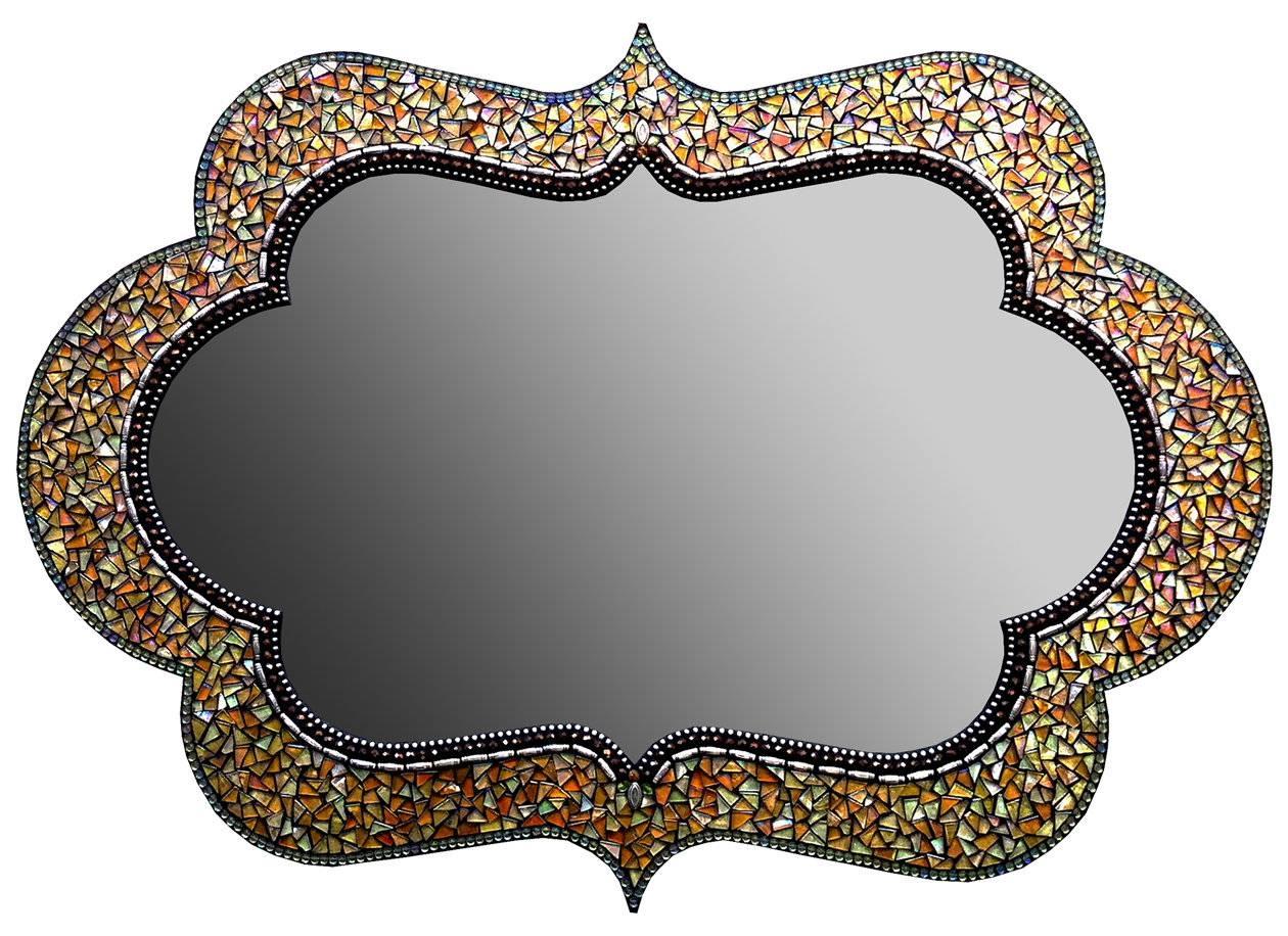 Original Art Mirrors Madenorth American Artists | Artful Home inside Bronze Mosaic Mirrors (Image 11 of 15)