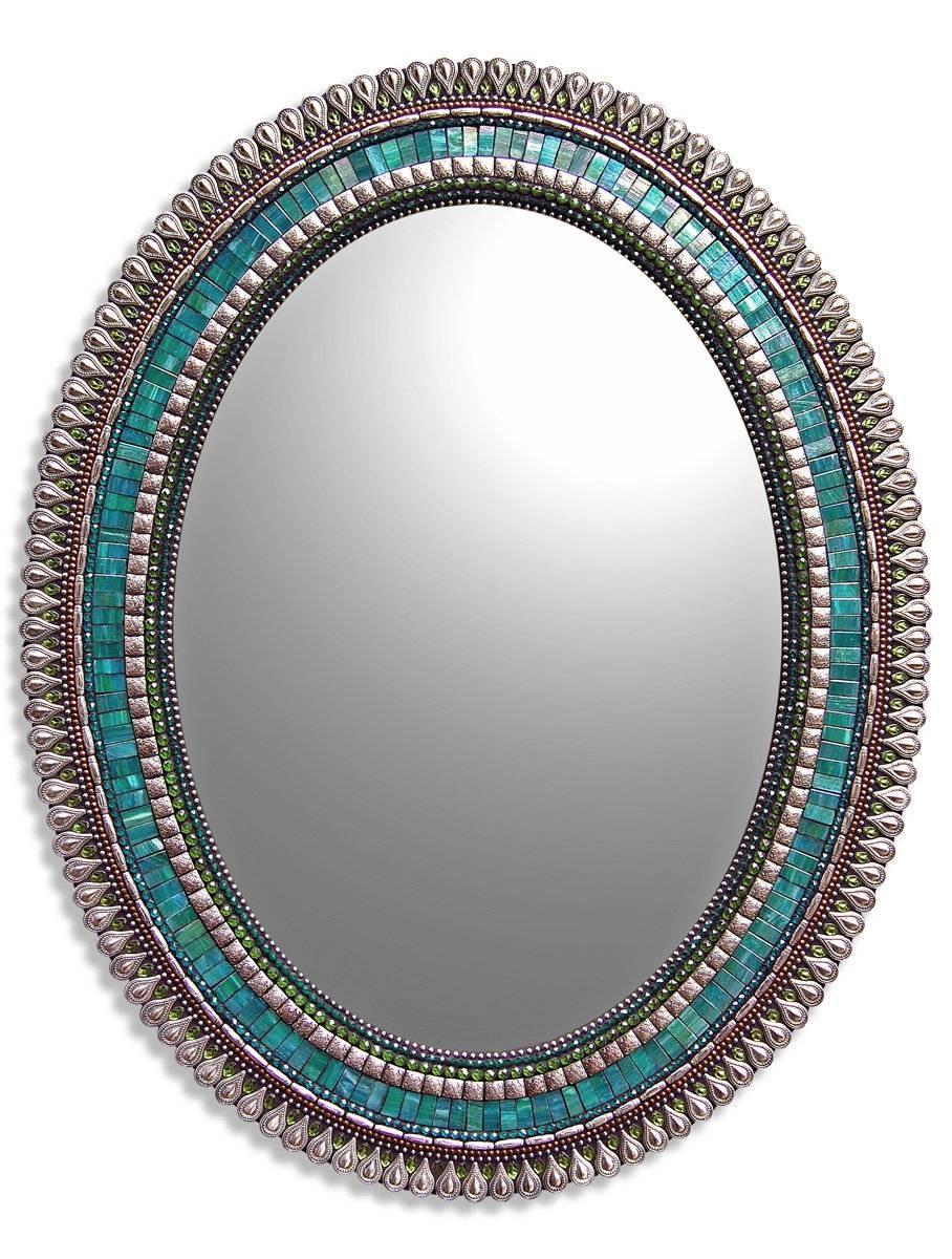 Original Art Mirrors Madenorth American Artists | Artful Home throughout Bronze Mosaic Mirrors (Image 12 of 15)