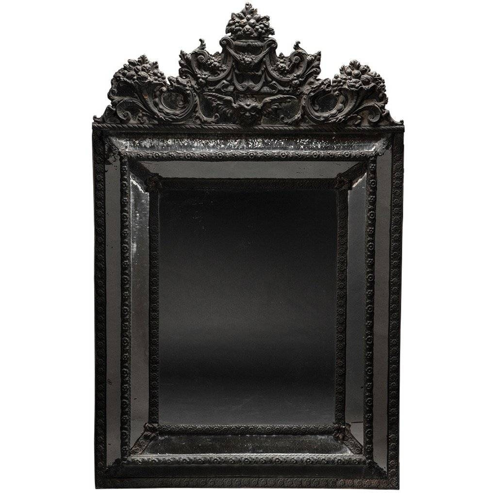 Ornate Black Mirror At 1Stdibs intended for Black Ornate Mirrors (Image 8 of 15)