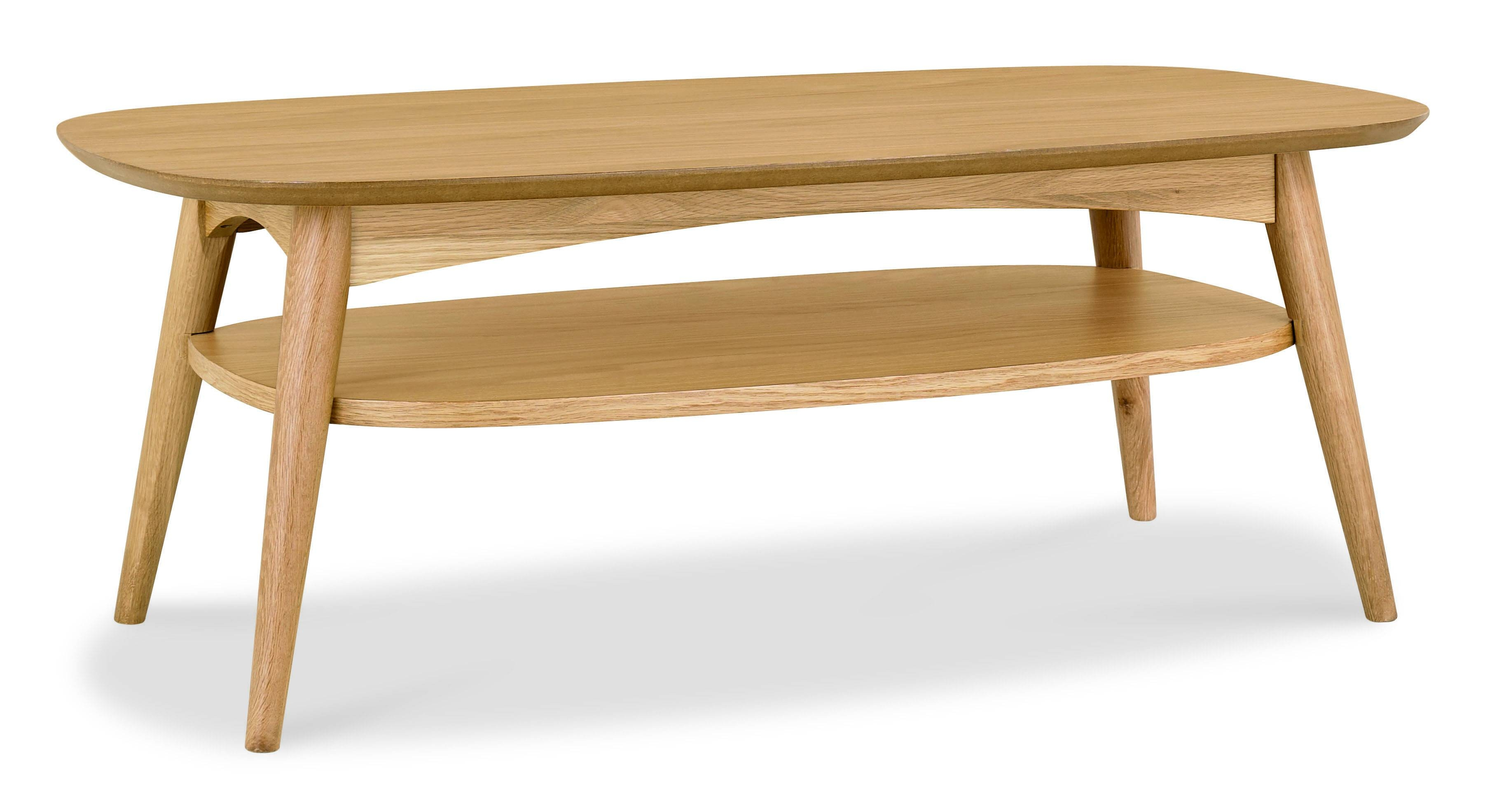 Oslo Oak Coffee Table With Shelf | Oak Furniture Solutions throughout Oak Coffee Table With Shelf (Image 11 of 15)