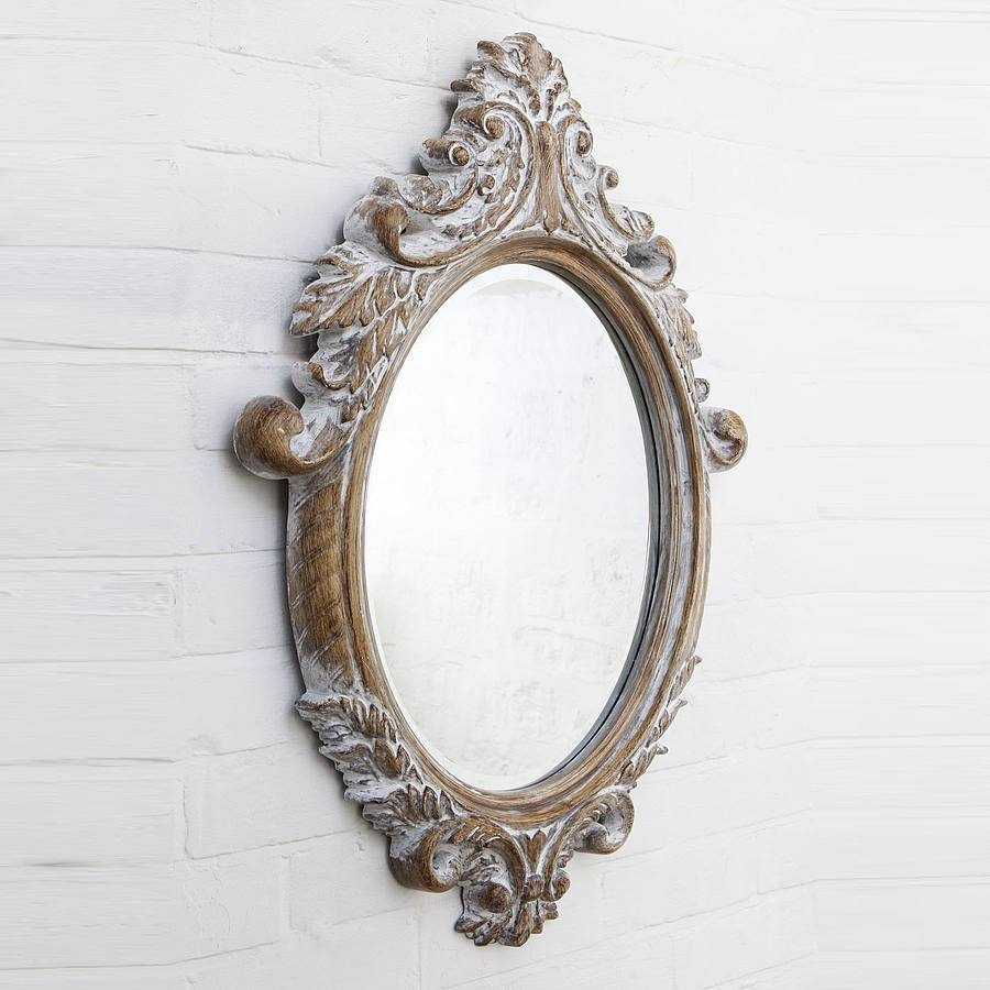 Oval Bevelled Ornate Mirrorhand Crafted Mirrors inside Oval Cream Mirrors (Image 12 of 15)