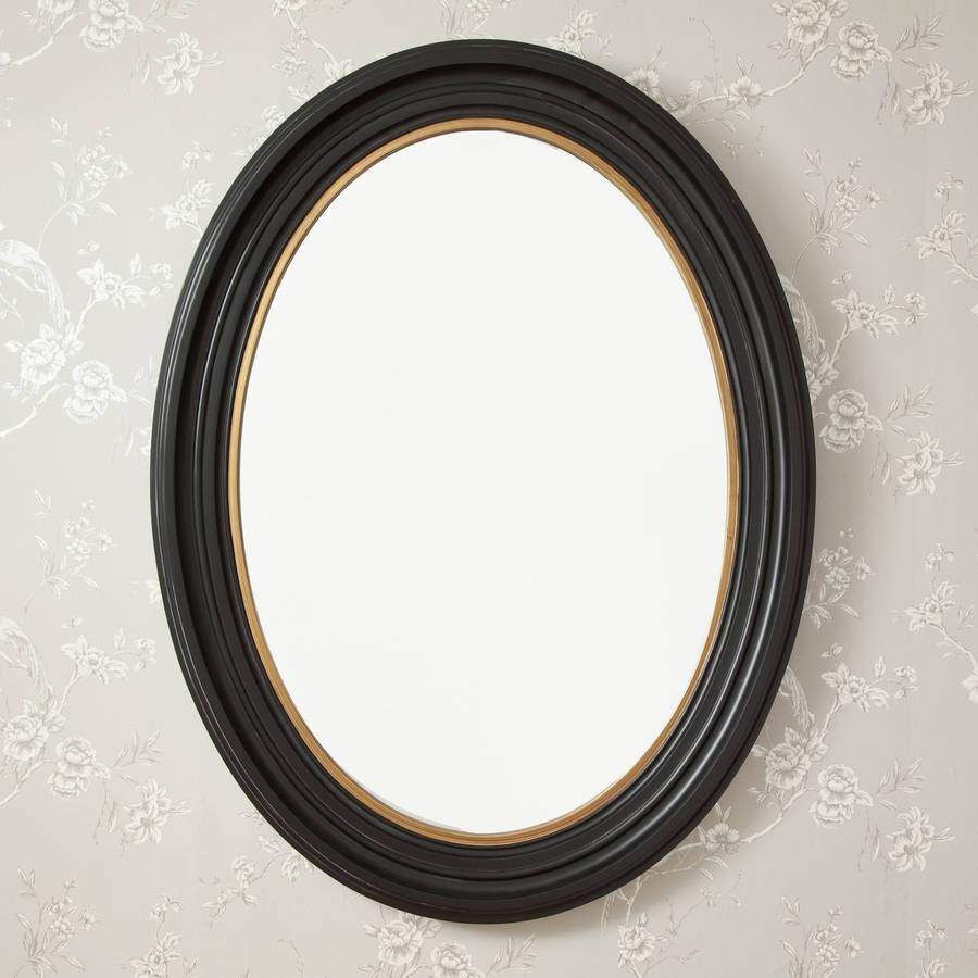 Oval Black And Gold Mirrordecorative Mirrors Online For Black Oval Mirrors (View 8 of 15)