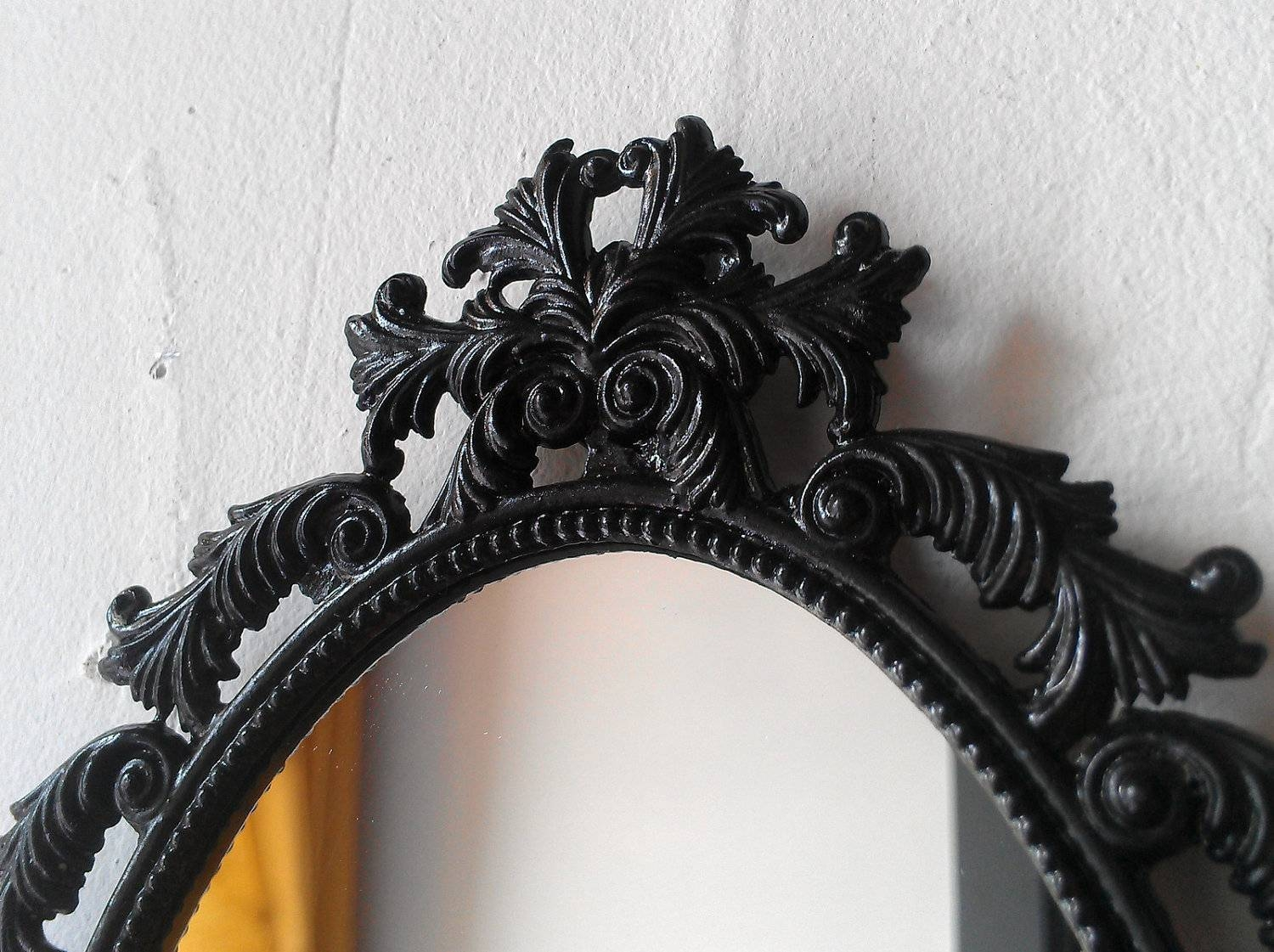Oval Black Framed Mirror – Harpsounds (View 10 of 15)