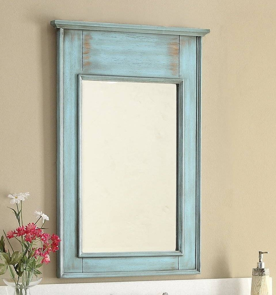 Oval Mirror Tags : Diy Frame Bathroom Mirror Extra Large Bathroom Throughout Blue Distressed Mirrors (View 10 of 15)