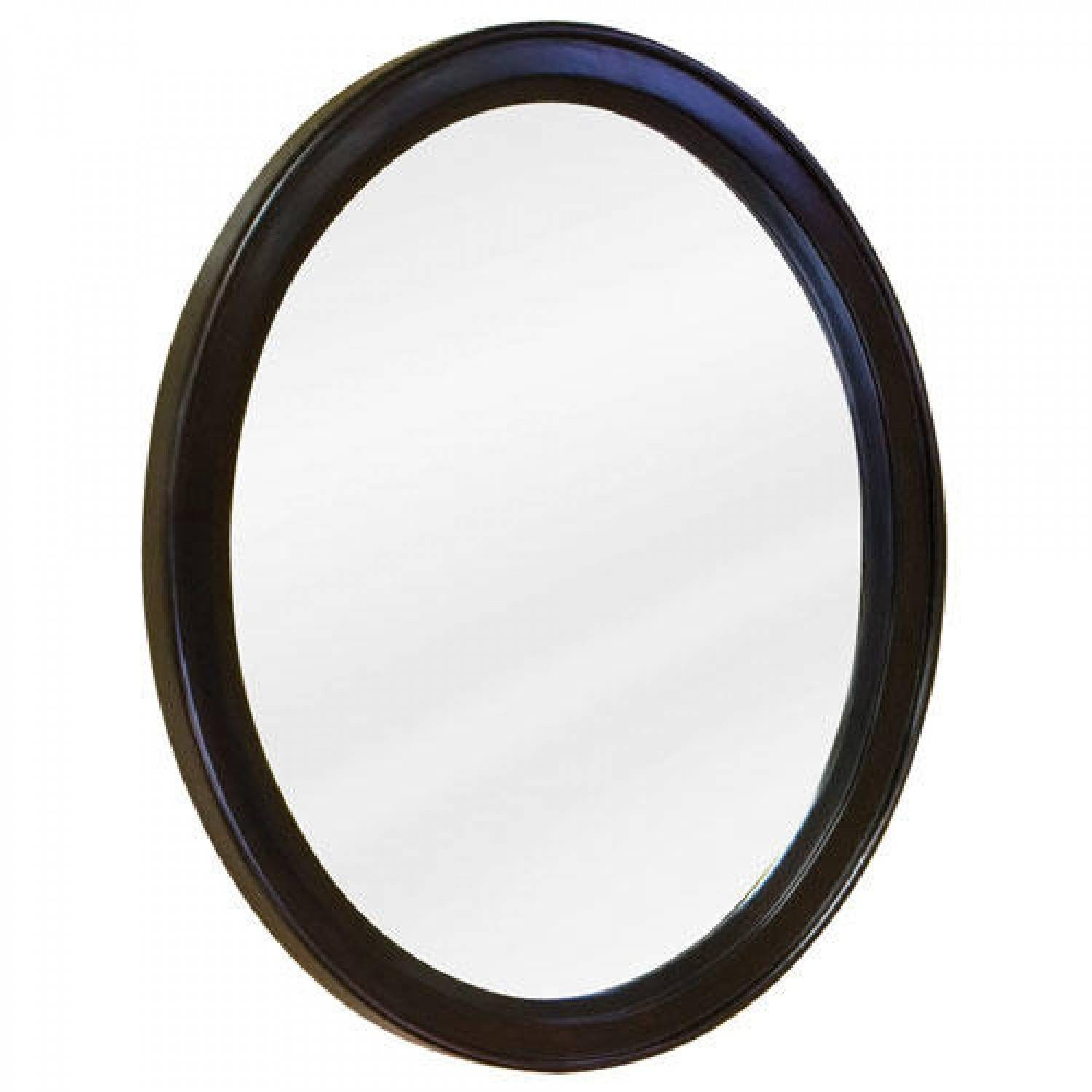Oval Vanity Mirror – Espresso – Bathroom With Black Oval Mirrors (View 11 of 15)