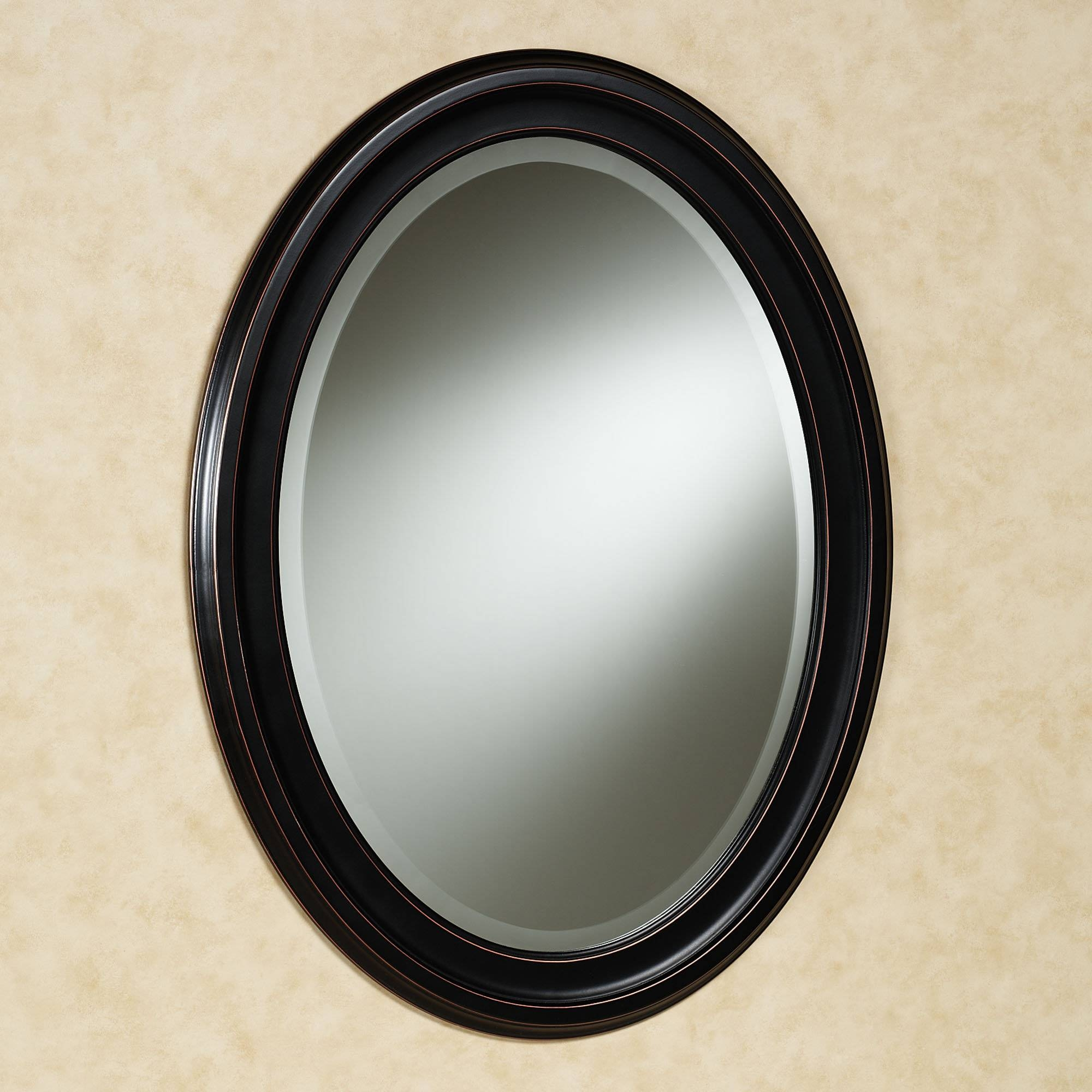 Oval Wall Mirrors, Black Oval Wall Clock Black Oval Wall Mirror Pertaining To Black Oval Mirrors (View 12 of 15)