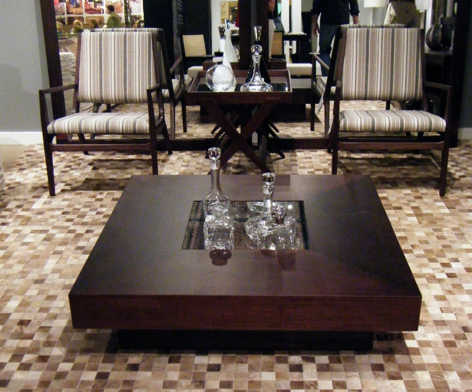 Oversized Dark Wood Coffee Table : Oversized Coffee Table In with Dark Wood Coffee Tables (Image 15 of 15)