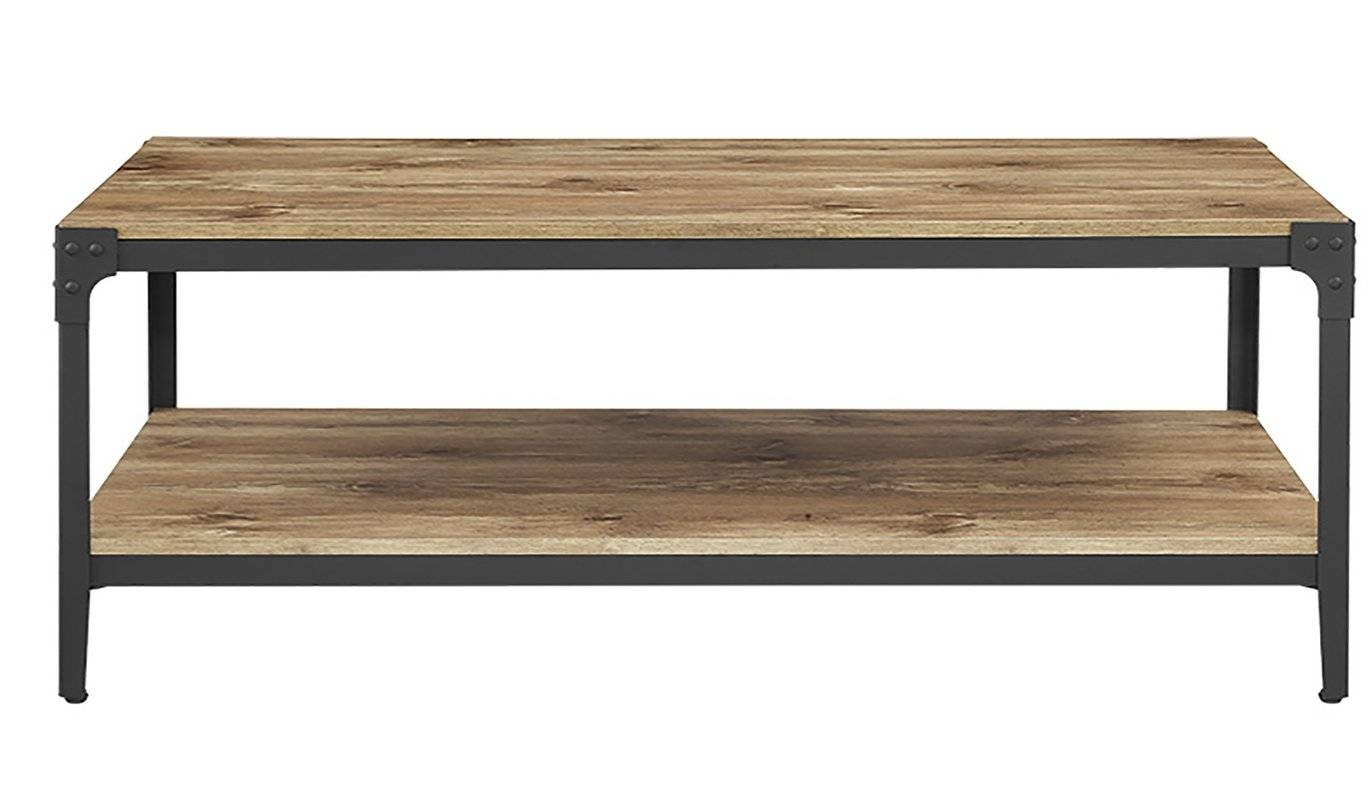 Owen Rustic Wood Coffee Table & Reviews | Birch Lane throughout Rustic Wooden Coffee Tables (Image 9 of 15)