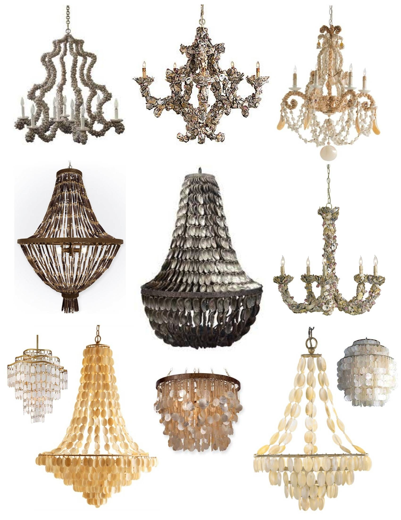 Oyster Shell Chandelier Ideas | Homesfeed intended for Shell Lights Shades Pendants (Image 11 of 15)