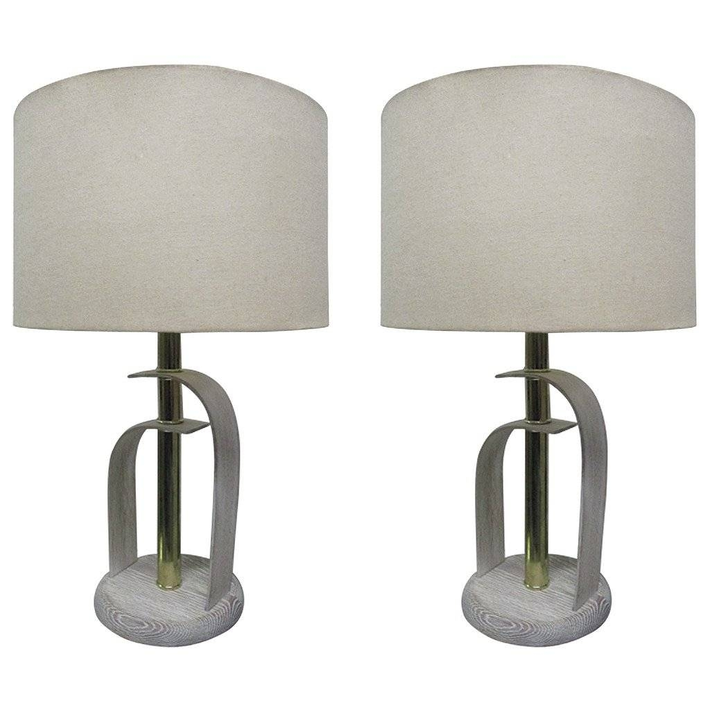 Pair Of Bentwood Cerused Oak Lamps For Sale At 1Stdibs with Bentwood Lighting (Image 10 of 15)