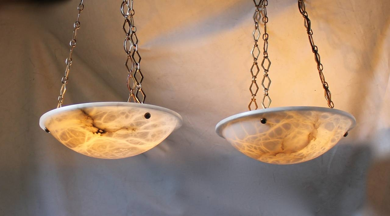 Pair Of Directoire Style French Alabaster Chandelier Pendant for Alabaster Pendants (Image 10 of 15)