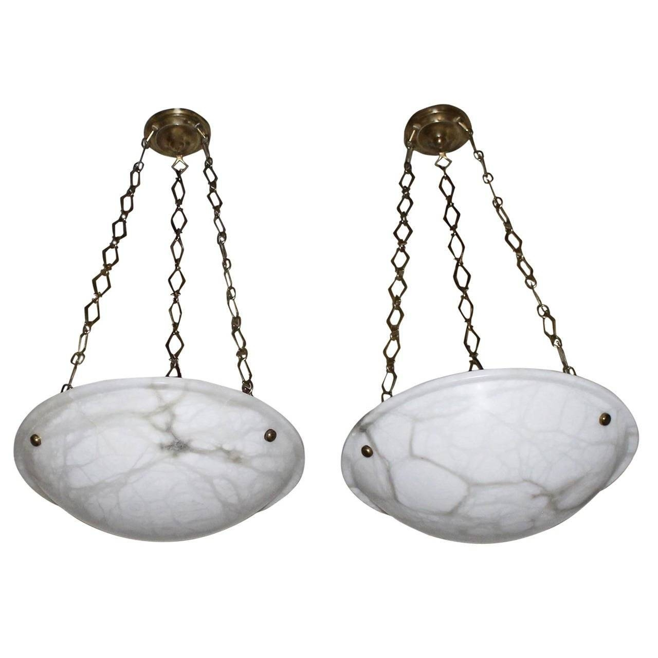 Pair Of Directoire Style French Alabaster Chandelier Pendant intended for Alabaster Pendants (Image 11 of 15)