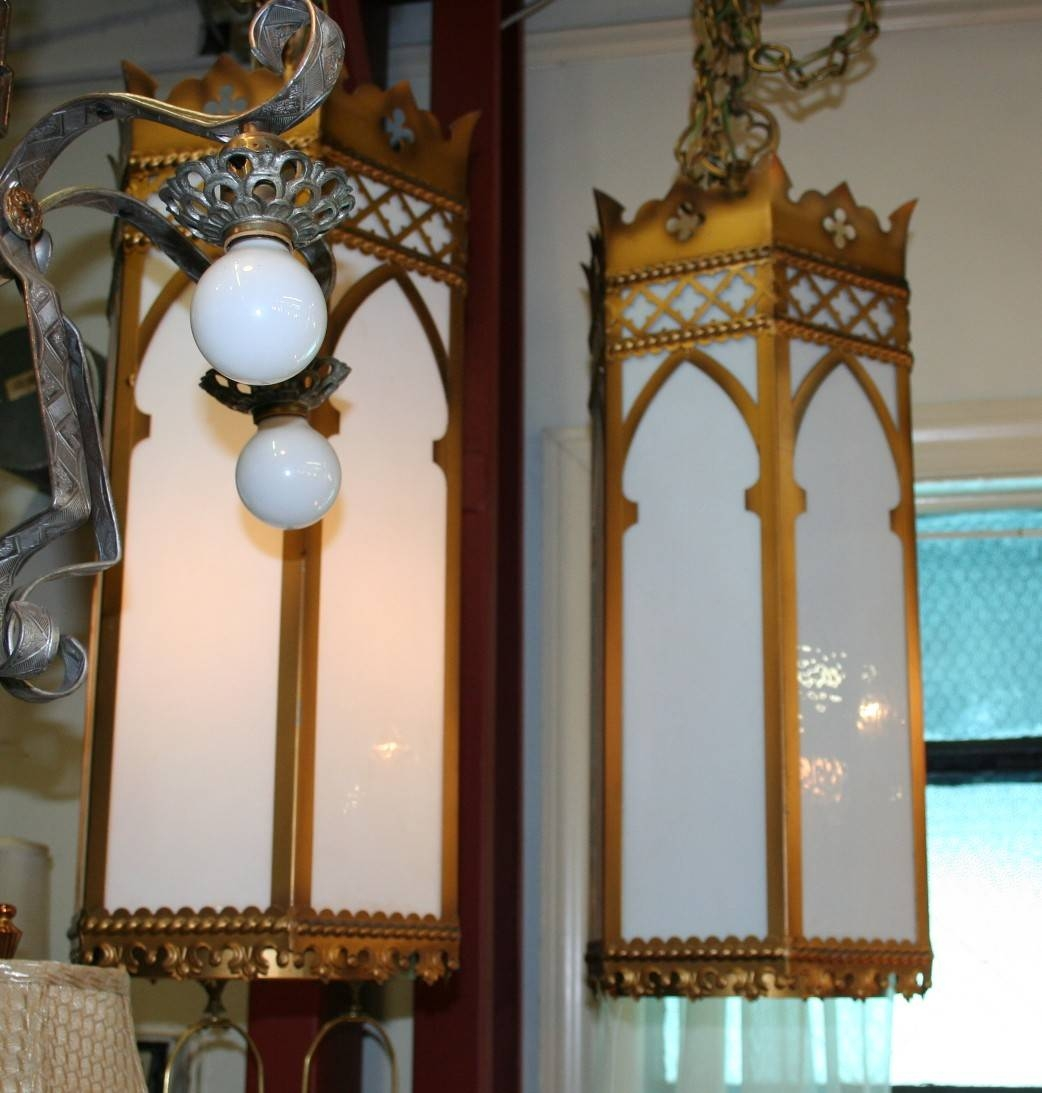 Pair Of Simple Church Lights For Sale | Antiques | Classifieds For Church Pendant Lighting (View 13 of 15)