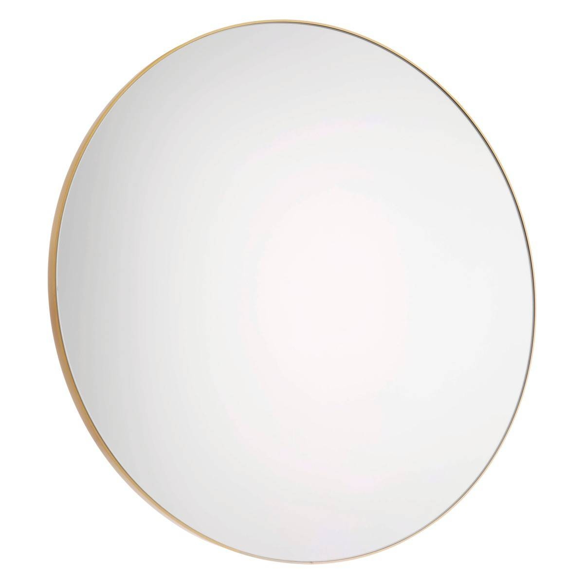 Patsy Large Round Gold Wall Mirror D82Cm | Buy Now At Habitat Uk within Round Mirrors (Image 7 of 15)