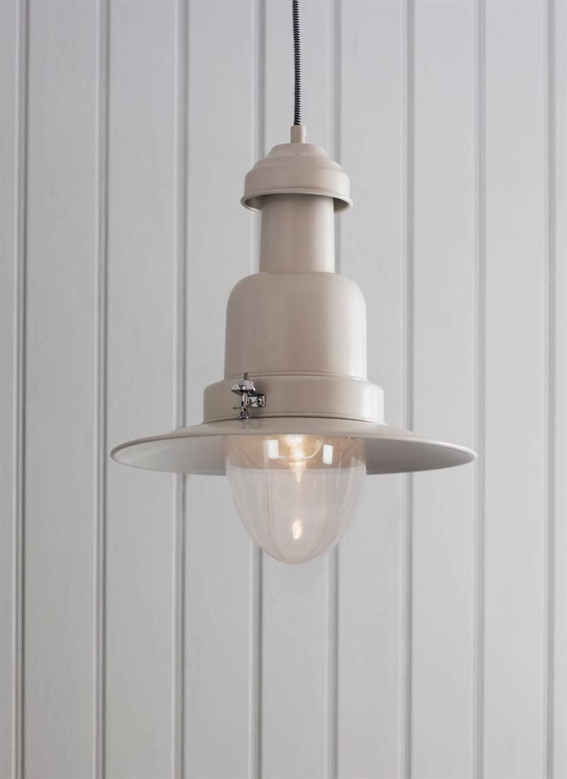 Pendant Fishing Light, Large In Chalk - Steel | Garden Trading with regard to Pendant Fishing Lights (Image 10 of 15)