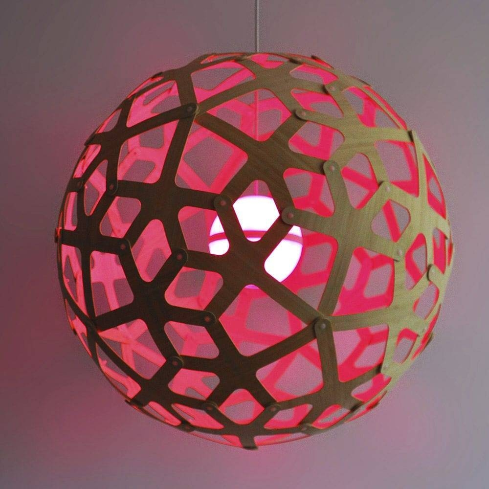 Pendant Lamp / Contemporary / Bamboo / Led - Coral - Dydell with Coral Pendant Lights (Image 14 of 15)