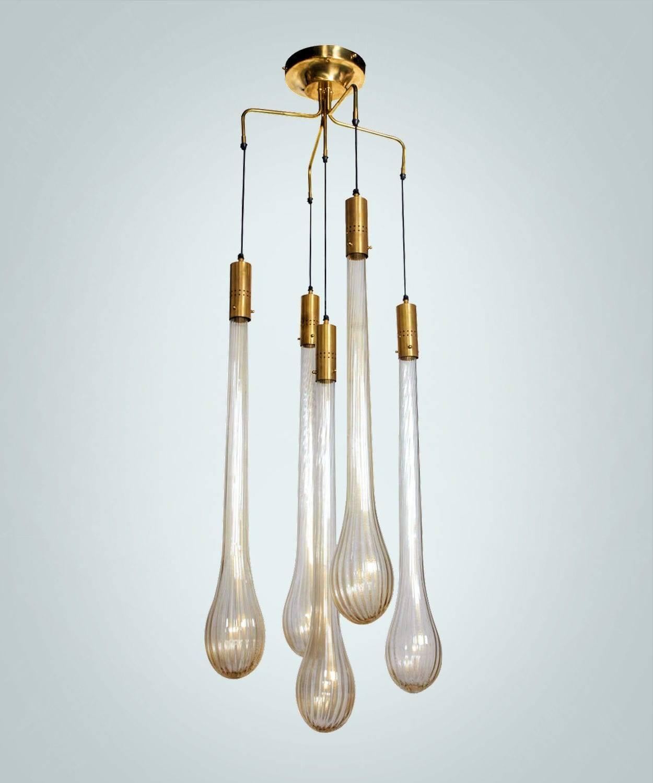 Pendant Lamp / Original Design / Blown Glass / Murano Glass - Drop in Murano Pendant Lights (Image 12 of 15)