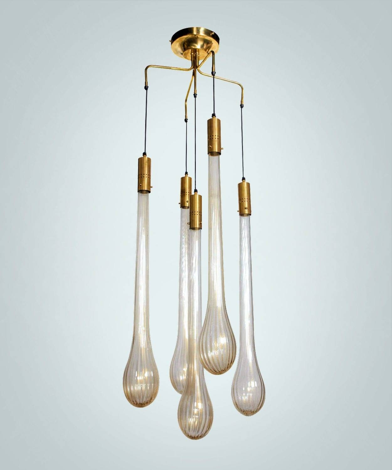 Pendant Lamp / Original Design / Blown Glass / Murano Glass - Drop pertaining to Murano Glass Lights Pendants (Image 10 of 15)