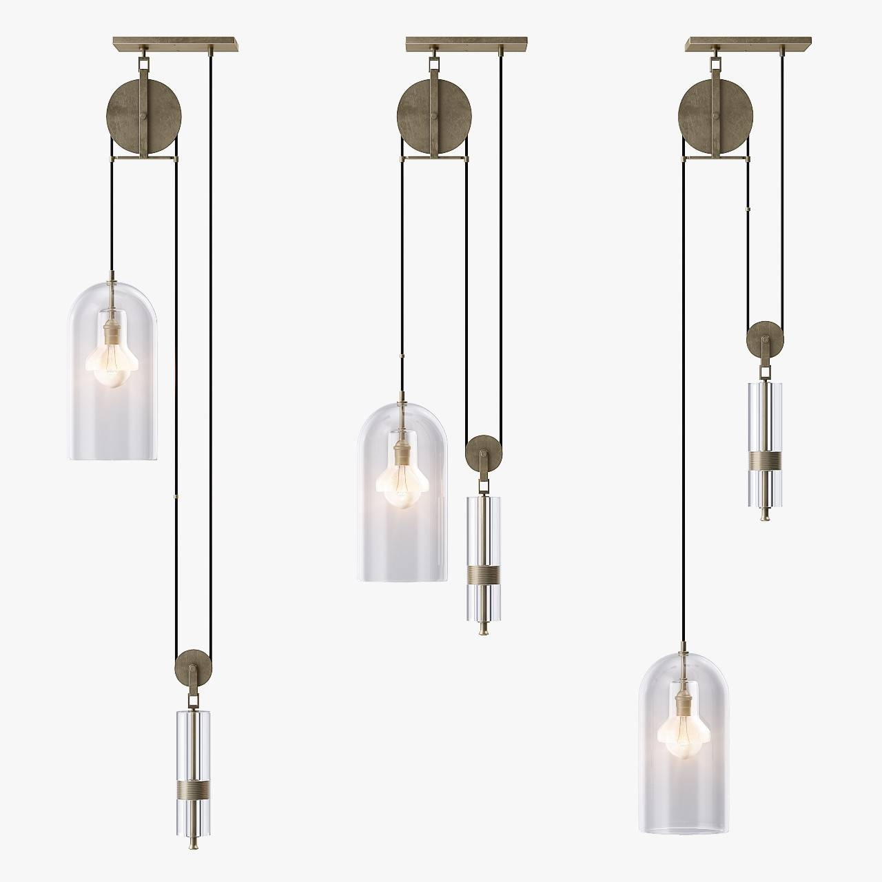 Pendant Light 3D 3Ds throughout Pulley Pendant Lights (Image 13 of 15)