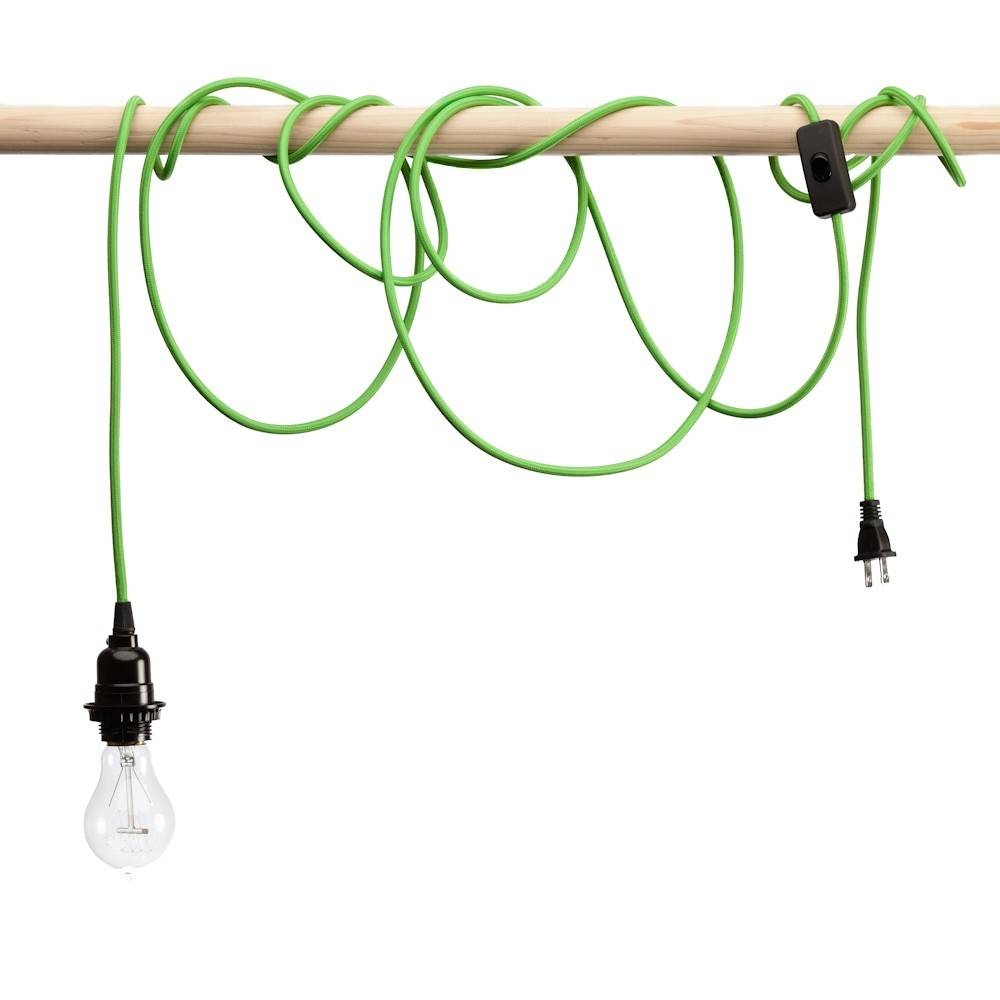 Pendant Light Cords - Single Light Bulb Cords inside Pendant Lights With Coloured Cord (Image 10 of 15)
