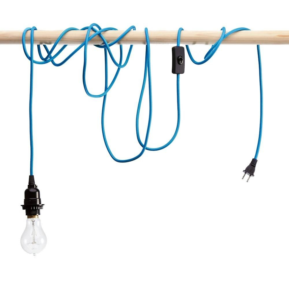 Pendant Light Cords - Single Light Bulb Cords with Pendant Lights With Coloured Cord (Image 11 of 15)