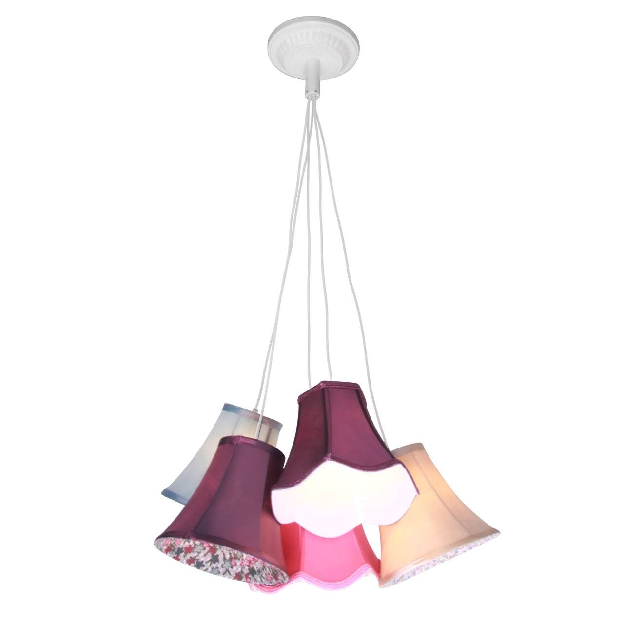 Pendant Light Tiered 9 And 5 Multi Coloured Shades Ceiling Hanging intended for Multi Coloured Pendant Lights (Image 10 of 15)