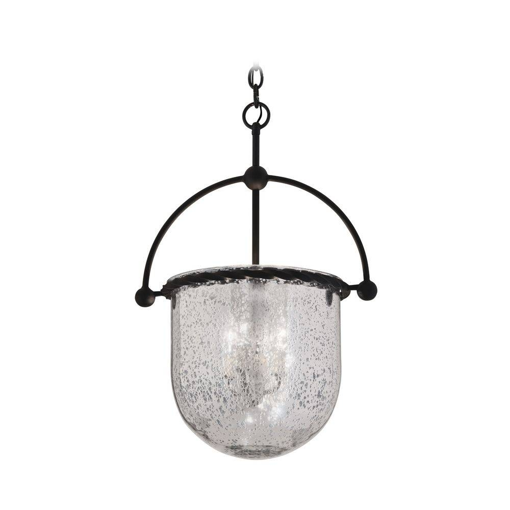 Pendant Light With Mercury Glass In Old Iron Finish | F2564 for Mercury Glass Lights Pendants (Image 14 of 15)