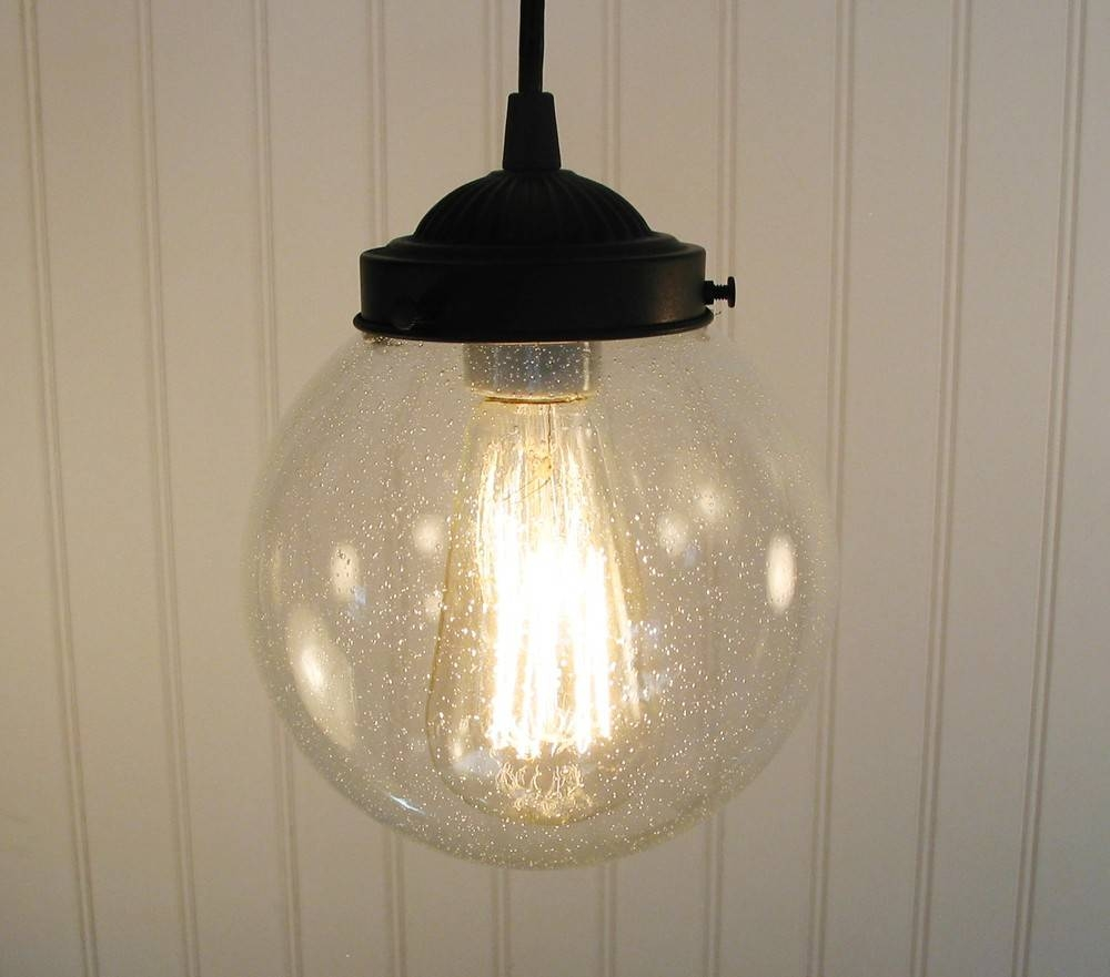 Pendant Lighting Of Vintage Inspired Seeded Glass Clear within Etsy Pendant Lights (Image 13 of 15)