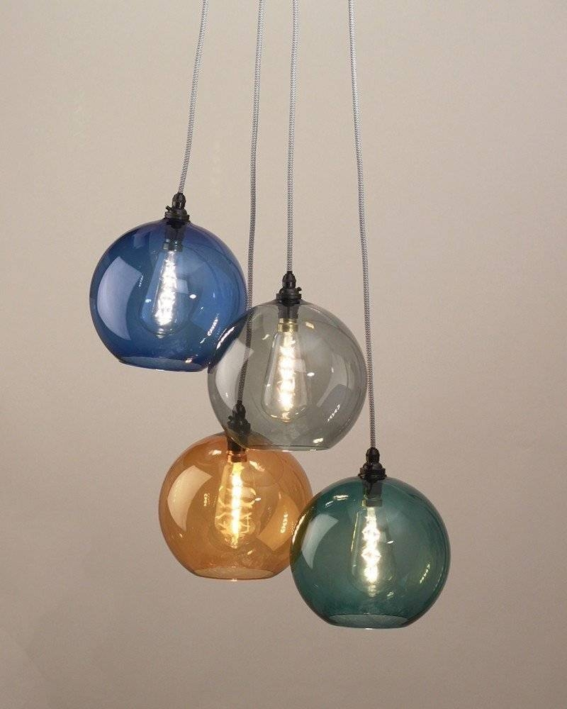 Pendant Lights, Chandelier Lighting, Hereford Mixed Coloured Glass for Coloured Glass Lights (Image 14 of 15)