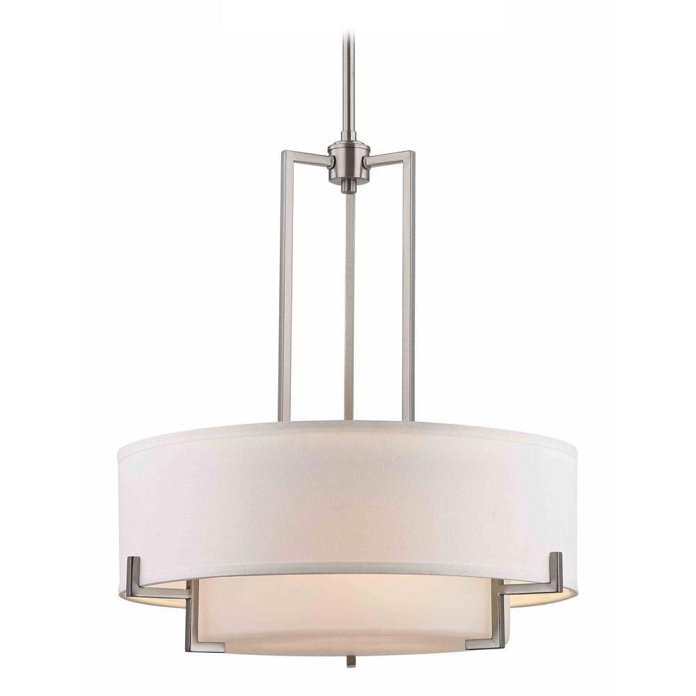 Pendant Lights | Glass Pendant Lighting | Destination Lighting in Rectangular Drum Pendant Lights (Image 13 of 15)