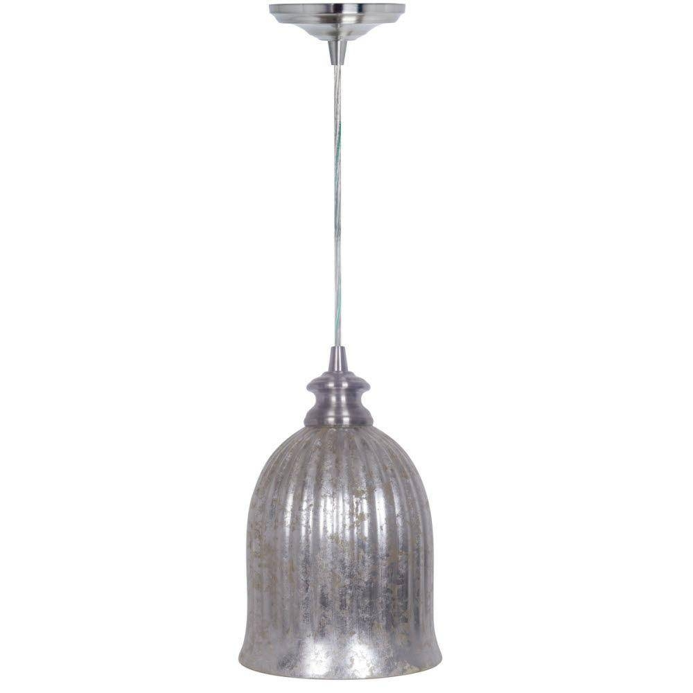 Pendant Lights - Hanging Lights - The Home Depot in Mercury Glass Globes Pendant Lights (Image 13 of 15)
