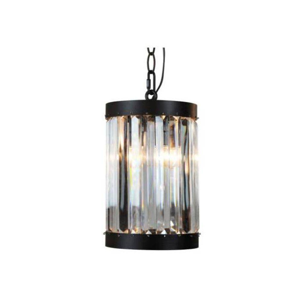 Pendant Lights – Hanging Lights – The Home Depot Regarding Cracked Glass Pendant Lights (View 12 of 15)