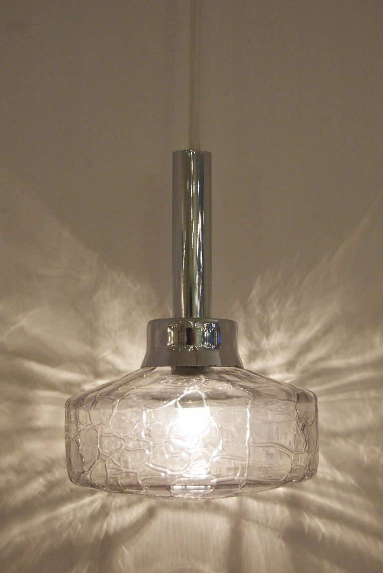 Pendant Smoked Crackle Glass Lights At 1Stdibs With Cracked Glass Pendant Lights (View 13 of 15)