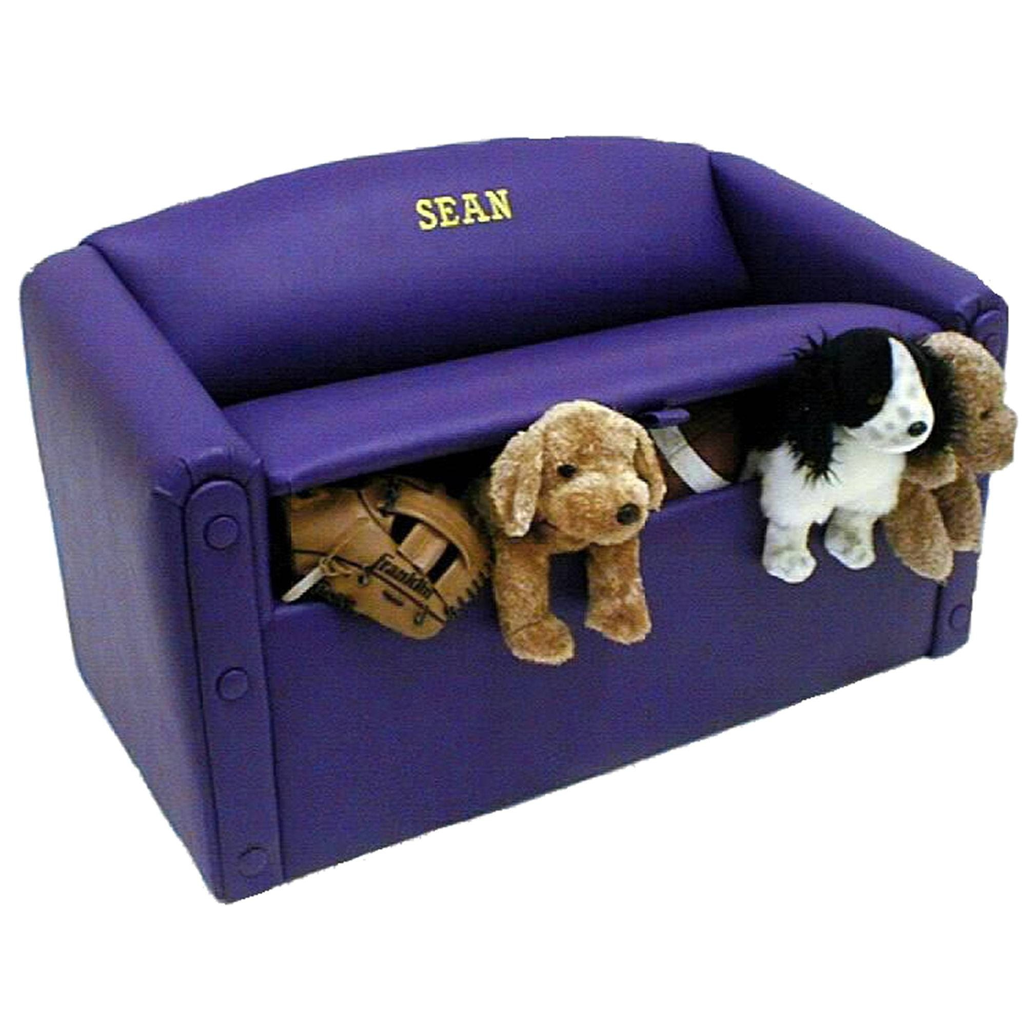 Personalized Kids Sofa & Toy Box | Toy Boxes | Kids Couch in Personalized Kids Chairs And Sofas (Image 13 of 15)
