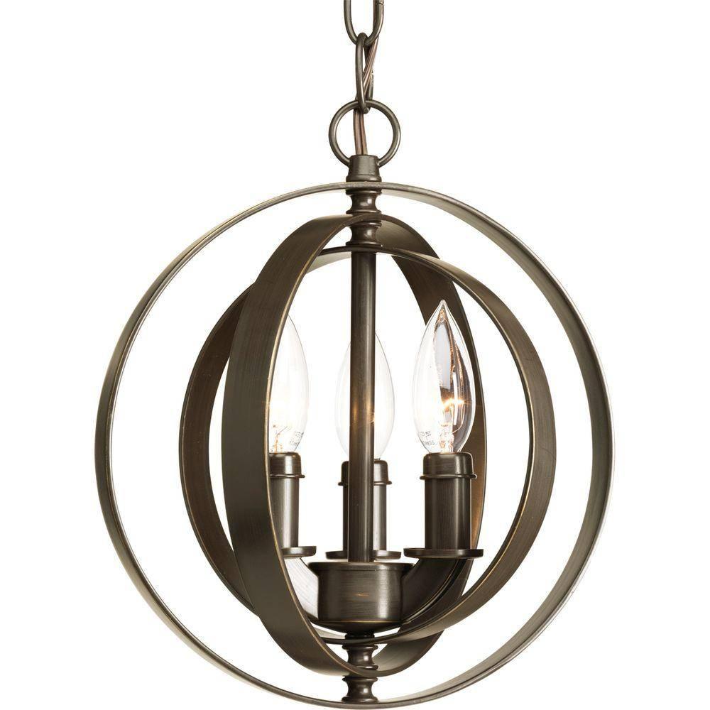 Pewter - Pendant Lights - Hanging Lights - The Home Depot intended for Old World Pendant Lighting (Image 7 of 15)