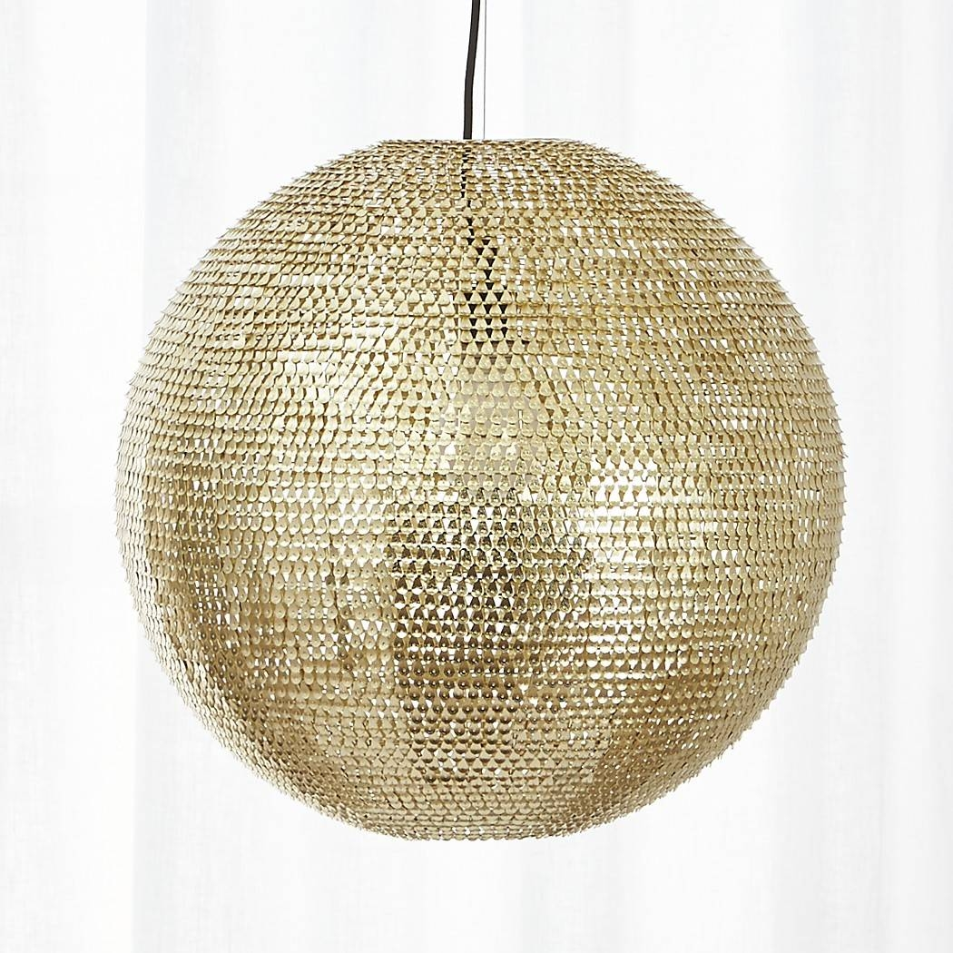 Pharaoh Pendant Light | Cb2 for Cb2 Lighting Pendants (Image 7 of 15)