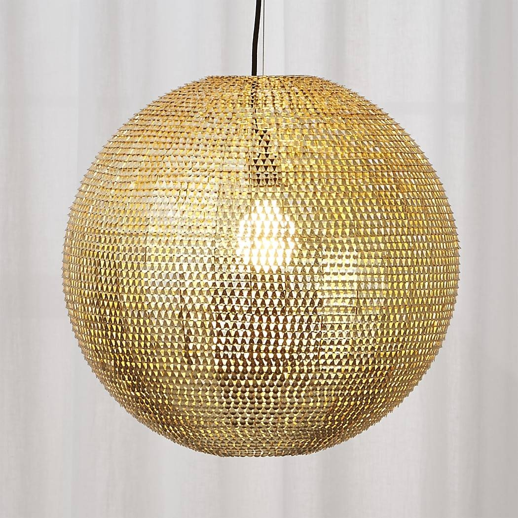 Pharaoh Pendant Light | Cb2 intended for Cb2 Lighting Pendants (Image 9 of 15)