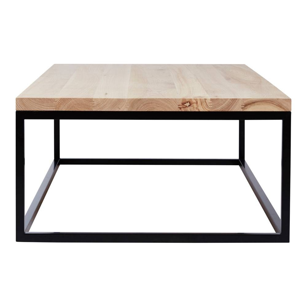 Phoenix Industrial Designer Coffee Table - Timber Top/black Metal Base inside Metal And Wood Coffee Tables (Image 12 of 15)