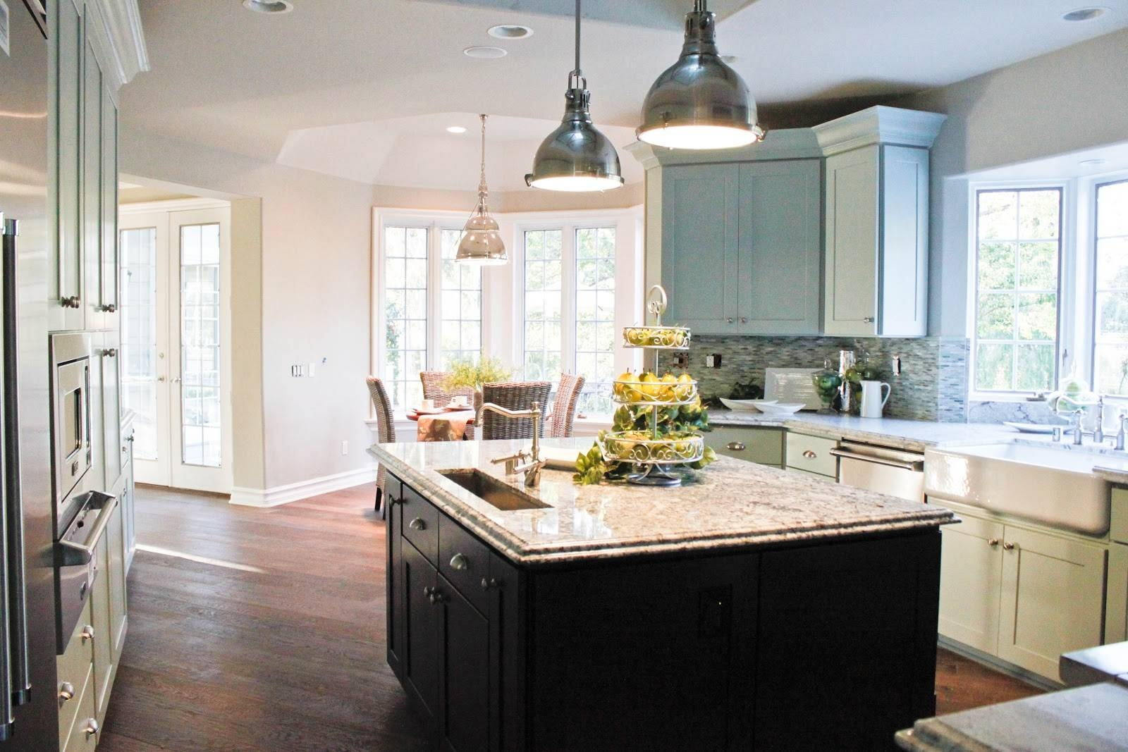 Photos Hgtv Kitchen Island With Stainless Steel Pendant Lights intended for Stainless Steel Kitchen Lights (Image 12 of 15)