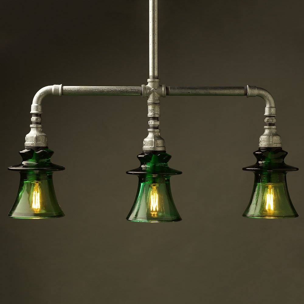 Pipe Green Russian Insulator Table Light With Regard To Insulator Pendant Lights (Photo 11 of 15)