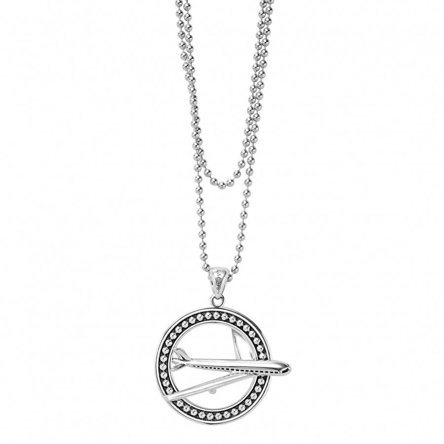 Plane Pendant Necklace | Signature Caviar | Lagos Jewelry pertaining to Caviar Pendants (Image 15 of 15)