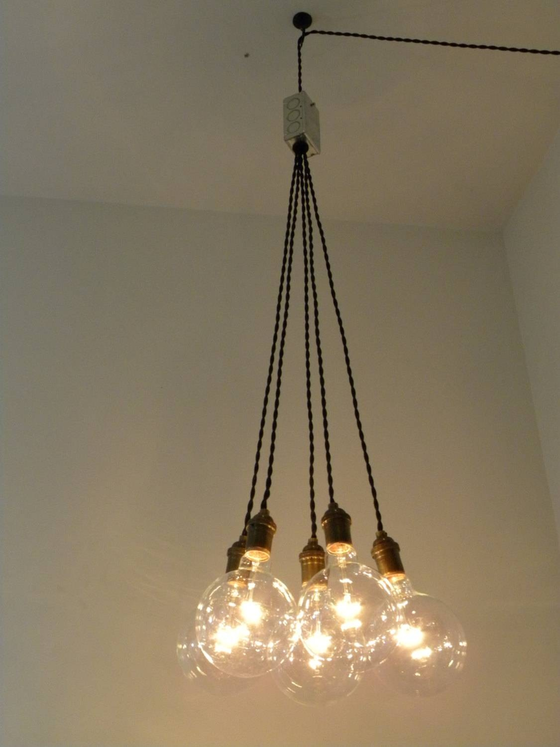 Plug In Cluster Chandelier Pendant Lighting Modern Swag Custom regarding Plugin Ceiling Pendant Lights (Image 10 of 15)