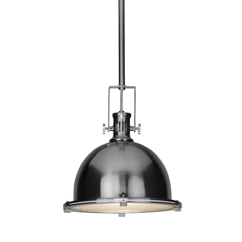 Popular Of Stainless Steel Pendant Light Pertaining To Home Design With Stainless Steel Pendant Lights For Kitchen (View 12 of 15)